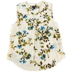 Womens Floral Print Sleevless Top