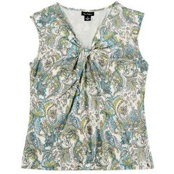 Nue Options Womens Printed Short Sleeve Top