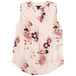 Nue Options Womens Floral Sleevless Top