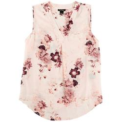 Womens Floral Sleevless Top