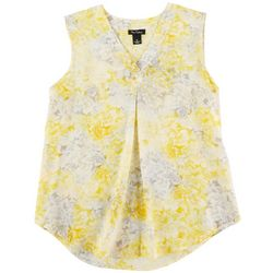 Nue Options Womens Floral Print Sleevless Tank Top