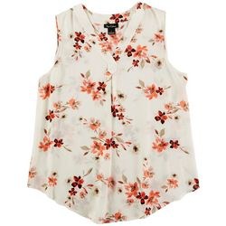 Nue Options Womens Floral Sleeveless Top