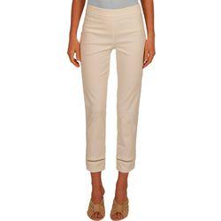 Nue Options Womens Pull On Solid Capri Pants