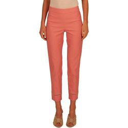 Nue Options Womens Pull On Solid Capri Pants