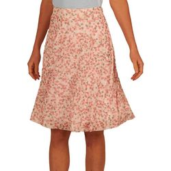 Nue Options Womens Ditsy Flower Mesh Pull On Skirt