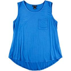 Womens Solid Pocketed Tank Top