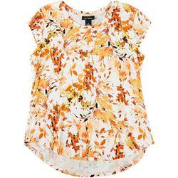Nue Options Womens Autumn Cap Sleeve Shirt