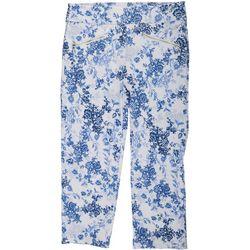 Nue Options Womens Floral Dream Capri Pants