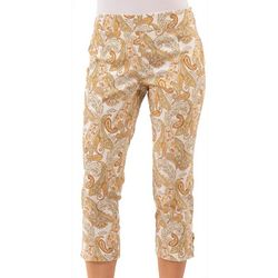 Nue Options Womens Pull On Paisley Capris