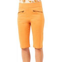 Nue Options Womens Zipper Pockets Skimmer Capris
