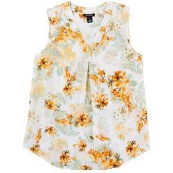 Womens Floral Print Sleeveless Top