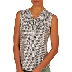 Nue Options Womens Neck Tie Top