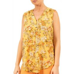 Womens Floral Sleeveless Top