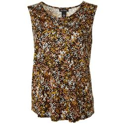 Nue Options Womens Dot Floral Sleeveless Top