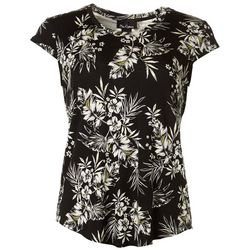 Nue Options Womens Tropical Cap Sleeve Top