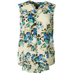 Nue Options Womens Floral Fresh Top