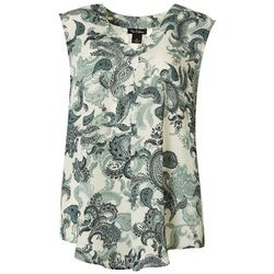 Nue Options Womens Paisley V-Neck Sleeveless Top