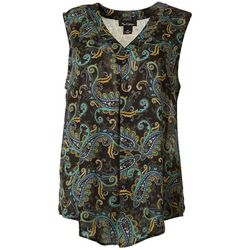 Nue Options Womens Paisley Sleeveless Top