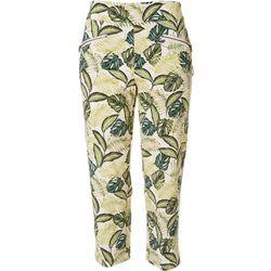 Nue Options Womens Palm Frond Capri Pants