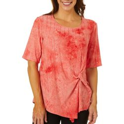 Sami & Jo Womens Gathered Front Sequin Fiesta Top