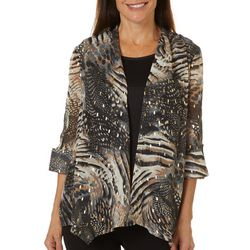 Sami & Jo Womens Animal Print Duet Top