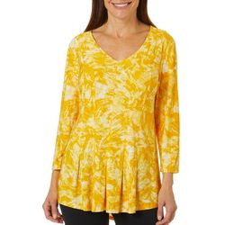 Sami & Jo Womens Fit & Flare Tie Dye Print Top