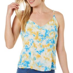 Le Kate Womens Tie Dye Tank Top