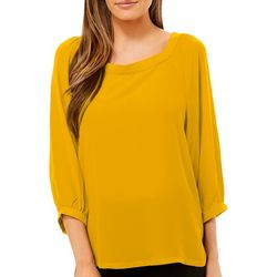 Premise Womens Solid Square Neck Top