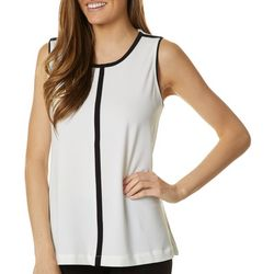 Premise Womens Solid Colorblock Sleeveless Top