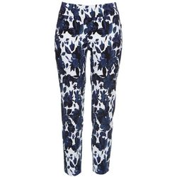 Premise Womens Floral Print Pull On Pants