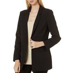Philosophy Womens Long Sleeve Open Front Jacket