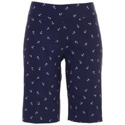 Womans Anchor Printed Bermuda Shorts
