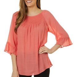 Zac & Rachel Womens Ruffle Sleeve off The Shoulder Top