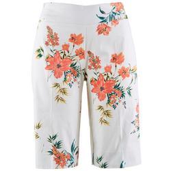 Zac & Rachel Womans Floral Print Bermuda Shorts
