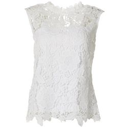 Nanette Lepore Womens Lace Tie Back Cap Sleeve Top