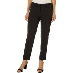 Nanette Lepore Womens Solid Flat Front Pants