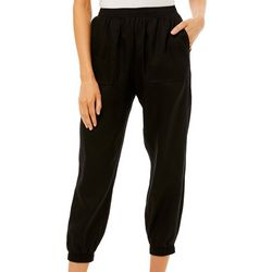 Prosecco Womens Solid Pull On Jogger Pants