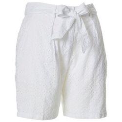 Nanette Lepore Womens Solid Eyelet Belted Shorts