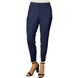Womens Solid Slim Ankle Pants