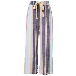 Zac & Rachel Womens Striped Slub Pants