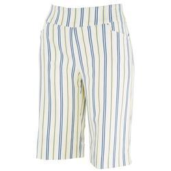 Womens Striped Skimmer Shorts