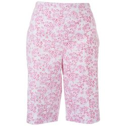 Counterparts Womens Dainty Flower Capris
