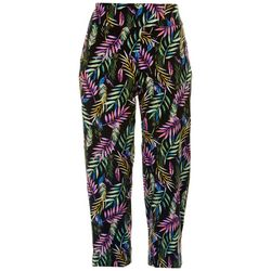 Counterparts Womens Pull On Tropical Ankle Pants