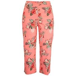Womens Pull-On Floral Pattern Capris