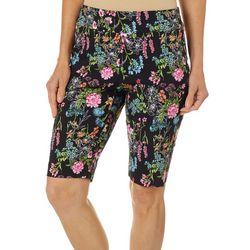 Counterparts Womens Floral Boquet Print Bermuda Shorts
