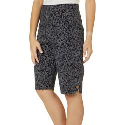 Counterparts Womens Polka Dot Bow Pull On Skimmer