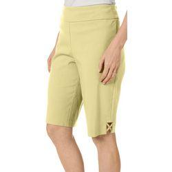 Counterparts Womens Solid Lattice Hem Shorts