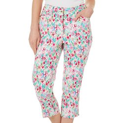 Cassmode Womens Floral Print Cropped Pants