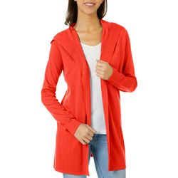 Womens Open Front Solid Cardigan