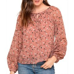 All In Favor Womens Floral Boho Top